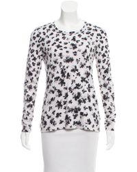 Thakoon - Floral Long Sleeve Top Grey - Lyst
