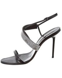 Diego Dolcini - Embellished Ankle Strap Sandals - Lyst