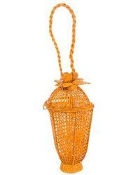 Silvia Tcherassi - Geometric Straw Bag Orange - Lyst