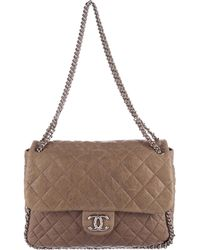Chanel - Chain Around Maxi Flap Bag Silver - Lyst