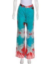 Just Cavalli - Mid-rise Wide-leg Jeans Aqua - Lyst