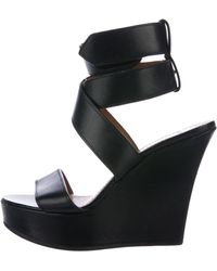 Givenchy - Leather Crossover Wedges - Lyst