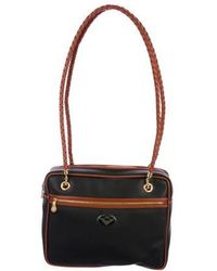 1987703495 Lyst - Bottega Veneta Marco Polo Canvas Shoulder Bag Navy in Metallic