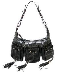 7b6b0e9457 Lyst - Givenchy Medium Printed Lucrezia Bag Black in Metallic