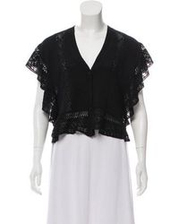 Anna Sui - Eyelet Button-up Cardigan - Lyst