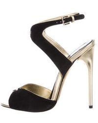 Tom Ford - Suede Ankle Strap Sandals Black - Lyst
