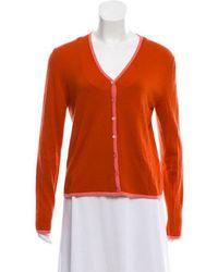 Carolina Herrera - Cashmere Knit Cardigan Orange - Lyst