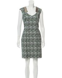 Matthew Williamson - Printed Embellished Dress - Lyst