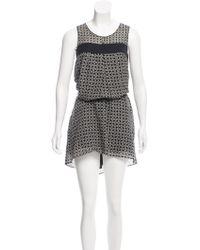 Tomorrowland - Printed Mini Dress Black - Lyst