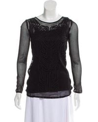 Alice By Temperley - Mesh Knit Top - Lyst