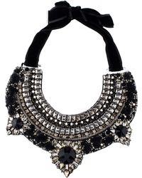 Etro - Crystal & Beaded Bib Collar Necklace Black - Lyst