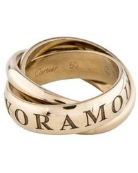 Cartier - Or Amour Et Trinity Ring White - Lyst