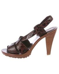 Kors by Michael Kors - Kors By Michael Embossed Leather Sandals - Lyst