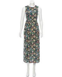 Steven Alan - Floral Print Maxi Dress Navy - Lyst