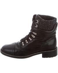 Chanel - Cap-toe Combat Boots - Lyst