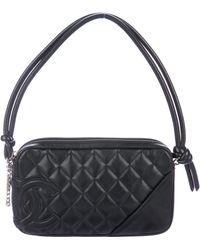 Chanel - Ligne Cambon Pochette Black - Lyst