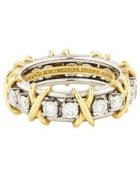Tiffany & Co. - Diamond Sixteen Stone Ring Yellow - Lyst