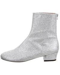 Dries Van Noten - Glitter Mid-calf Boots W/ Tags Silver - Lyst