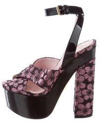 Giamba - Brocade Platform Sandals W/ Tags - Lyst