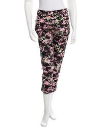 Love Moschino - Printed Cropped Jeans W/ Tags - Lyst