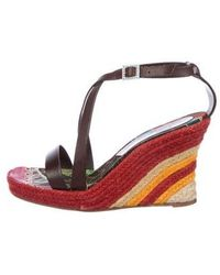 John Galliano - Leather Espadrille Wedges - Lyst