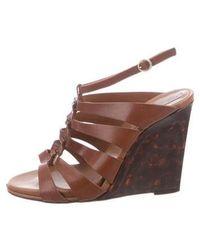 Diane von Furstenberg - Leather Wedge Sandals - Lyst