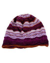 Missoni - Wool Striped Beanie - Lyst