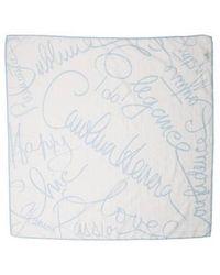 Carolina Herrera - Printed Silk-blend Scarf - Lyst