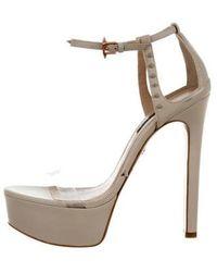 Ruthie Davis - Trophy Platform Sandals Nude - Lyst
