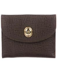 Dior - Embossed Leather Compact Wallet Gold - Lyst