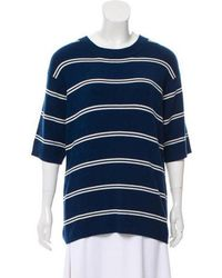Sandro - Striped Knitted Sweater - Lyst