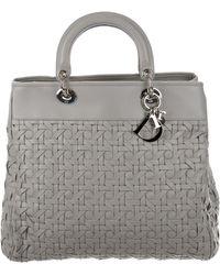 61e3246d60ee Lyst - Dior Mini Lady Bag Silver in Metallic