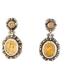 Tagliamonte - Two-tone Drop Earrings Yellow - Lyst