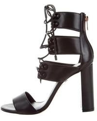 Ruthie Davis - French Lace-up Sandals Black - Lyst