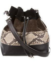 Proenza Schouler - Suede & Python-accented Bucket Bag Black - Lyst