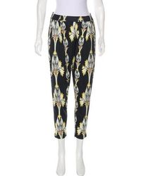 SUNO - High-rise Floral Pants - Lyst