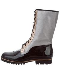 Rodarte - Lace-up Boots Black - Lyst