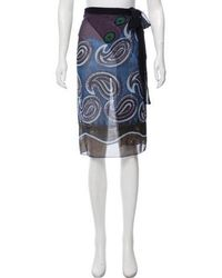 Etro - Printed Silk Sarong - Lyst