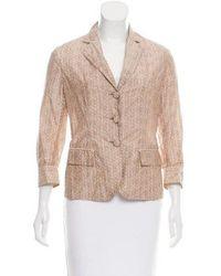 Bottega Veneta - Victorian Printed Blazer W/ Tags Khaki - Lyst