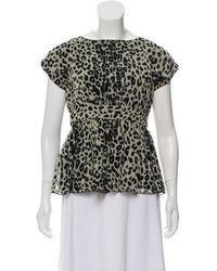 Anna Sui - Short Sleeve Peplum Top - Lyst
