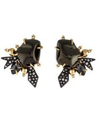 Alexis Bittar - Faux Pearl & Crystal Encrusted Starburst Clip-on Earrings Gold - Lyst