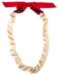 3.1 Phillip Lim - Origami Ribbon Necklace Silver - Lyst
