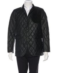 Moncler Gamme Bleu - Giacca Suede-accented Down-filled Blazer Navy - Lyst