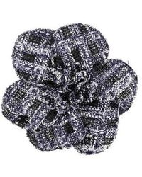 Chanel - Camellia Brooch Pin Silver - Lyst