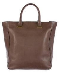 The Row - Day Luxe Tall Tote Brown - Lyst