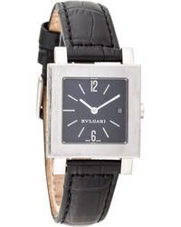 BVLGARI - Quadrato Watch Black - Lyst