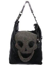 Thomas Wylde - Skull-embellished Leather Hobo Black - Lyst