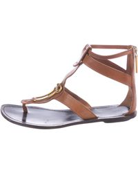 Maiyet - Embellished Thong Sandals Cognac - Lyst