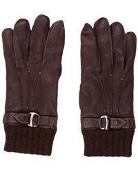 Ferragamo - Cashmere-lined Deerskin Gloves Brown - Lyst