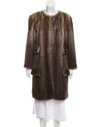 Peter Som - Knee-length Mink Fur Coat Brown - Lyst